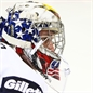 MALMO, SWEDEN - DECEMBER 26: USA's #32 Jon Gillies looks on in warmup prior to facing Czech Republic during preliminary round action at the 2014 IIHF World Junior Championship. (Photo by Francois Laplante/HHOF-IIHF Images)