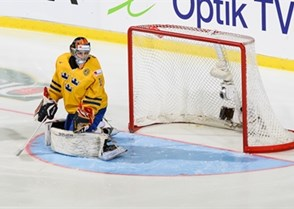 MALMO, SWEDEN - JANUARY 5: Finland's #7 Esa Lindell scored the first goal against Sweden in just 28 seconds during gold medal action at the 2014 IIHF World Junior Championship. (Photo by Francois Laplante/HHOF-IIHF Images)